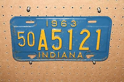 1963 - Indiana - A5121 - Marshall County - License Plate