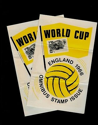 TWO 1966 Crown Agents British Commonwealth World Cup Omnibus Issue Flyers