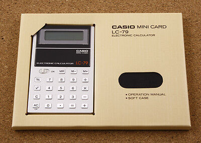 Casio LC-79 Vintage Calculator 1979 Made in Japan New Old Stock