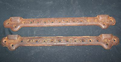 """Pair of Antique Vintage 15""""  Cast Iron Sink Wall Mounting Brackets - Steampunk"""