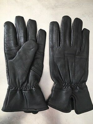•ladies• Black Genuine Leather, Thinsulate Lined Gloves, Size Small