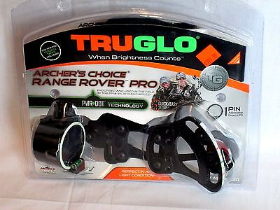 TRUGLO Archers Choice Range Rover Pro Green Dot Black hunting and target sight