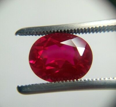 Oval Cut 10 x 8 mm Lab Created Ruby Loose Gemstone