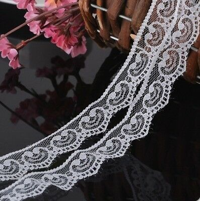 Heart- white Polyester Cotton Applique Ribbon Lace Edge Trim DIY Sewing Craft
