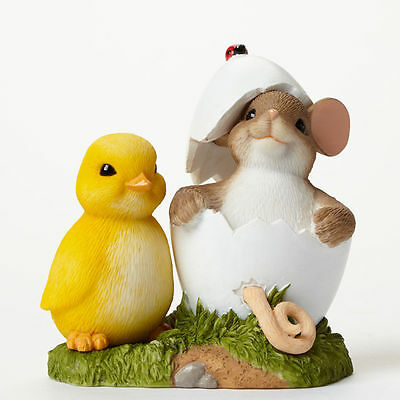 You're One Of A Kind! CHARMING TAILS Mouse Figurine Easter Gift