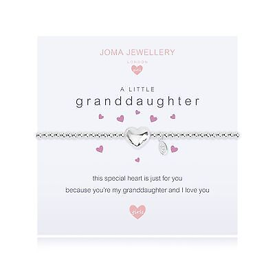Joma Jewellery Girls a little Granddaughter heart CHILDRENS silver bracelet, bag