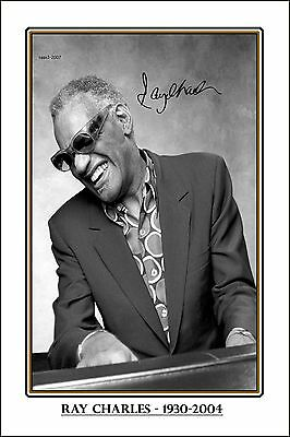 4x6 SIGNED AUTOGRAPH PHOTO PRINT OF RAY CHARLES #24