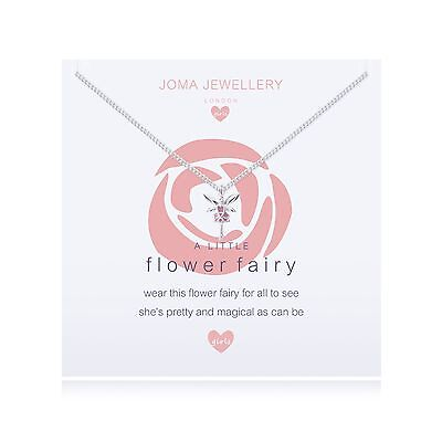 Joma Jewellery Girls A little Flower Fairy CHILDRENS Necklace, gift bag, fairies