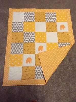 New Handmade Patchwork  applique play mat/baby quilt
