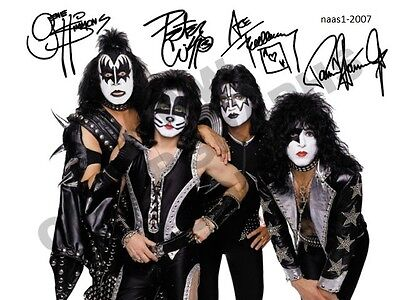 4x6 SIGNED AUTOGRAPH PHOTO PRINT OF kiss #26