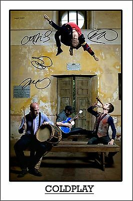 4x6 SIGNED AUTOGRAPH PHOTO PRINT OF COLDPLAY #26