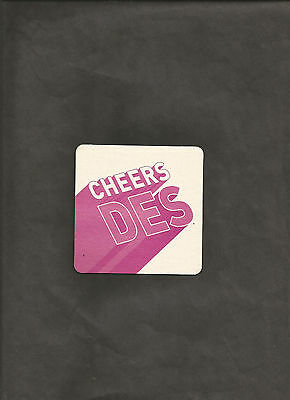British CHEERS DES I'LL BE DES DESIGNATE A NON-DRINKING DRIVER BAR COASTER