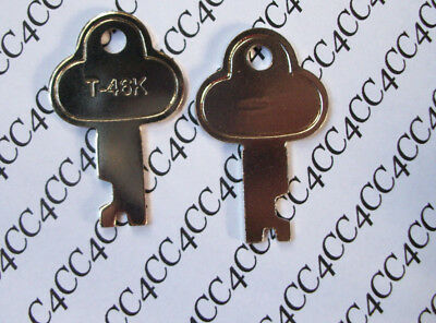 SALE 2  LOT T46 Steamer Trunk Key Precut Long Footlocker Key T-46K