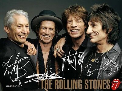 4x6 SIGNED AUTOGRAPH PHOTO PRINT OF THE ROLLING STONES #3