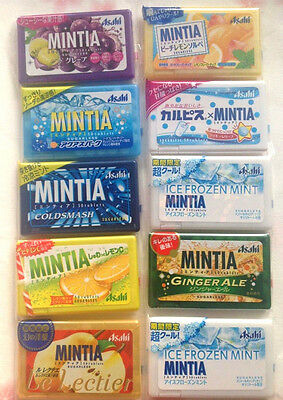 Asahi MINTIA ASSORTED SET 50 tablets×10 pack Japan NEW  flavors LIME ginger ale