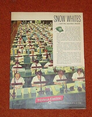 1956 Western Electric Telephone Ad Assembly Line Allentown Pa.
