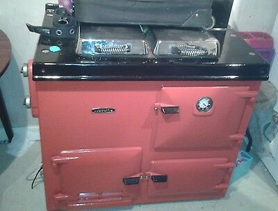 AGA cooker Rayburn Nouvelle Gas & Electric. Oven. Back Boiler Central Heating