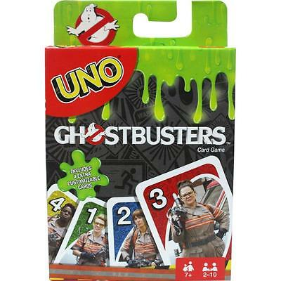 GENUINE UNO GHOST BUSTERS CARD GAME by Mattel 100% Brand New