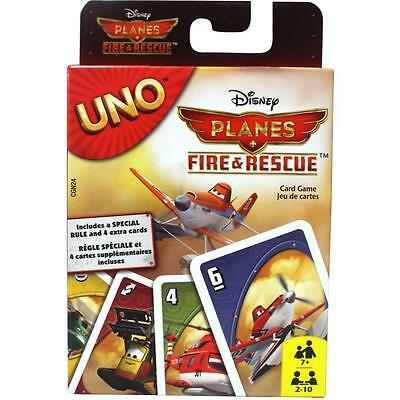 GENUINE UNO DISNEY PLANES FIRE & RESCUE CARD GAME by Mattel 100% Brand New