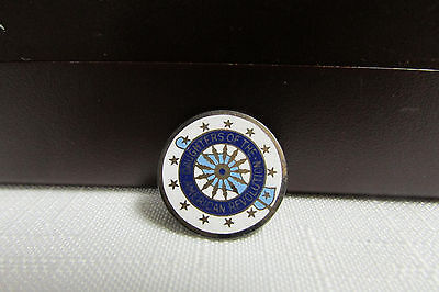 Vintage Daughters of the American Revlution Sterling and Enamel Pin #171064