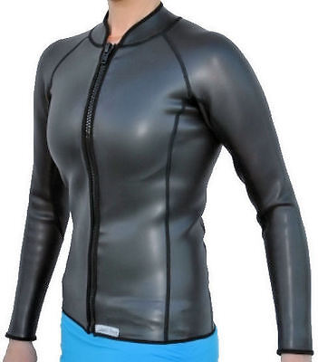 Women's 2mm SmoothSkin Wetsuit Jacket, Full Zipper, Long Sleeve Size: Large-New
