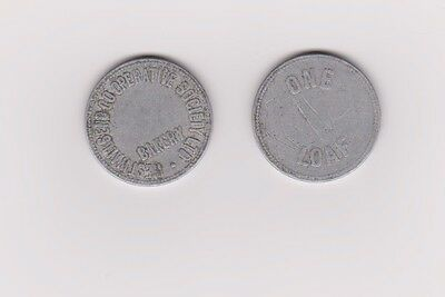 WEST WALLSEND CO-OPERATIVE SOCIETY ONE LOAF BREAD TOKENS x 2 - FREE POST(LARGE)