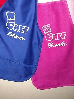 Personalized Child's Chef Cooking Apron Ages 2-5 kids fun cute paint cook