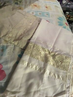 "100% Wool Tallit Talit Prayer Shawl Silk Embroidered Pearls Bag  Size 22"" X 76"""