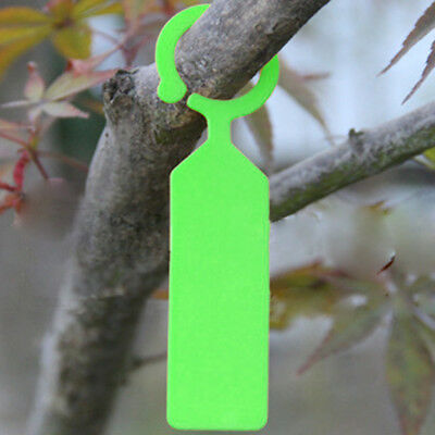 100pc PP Clip on Tags Gardening Supply Plant Ring Hanging Collar Label Green