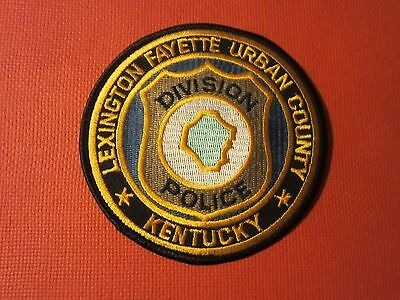 Collectible Kentucky Police Patch Lexington Fayette New