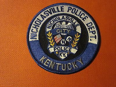Collectible Kentucky Police Patch Nicholasville New