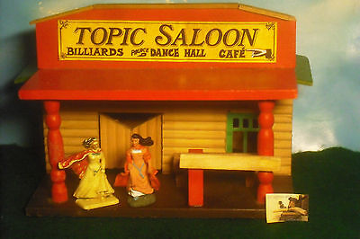 Casa Far West Soldatini Toy Soldiers Saloon legno scala 1:32