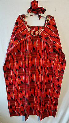 Womens Clothing African Kente Print Maxi Kaftan Caftan Long Dress Plus Size P# 8