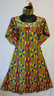 Womens Clothing African Kente Print Maxi Kaftan Caftan Long Dress Plus Size P#22
