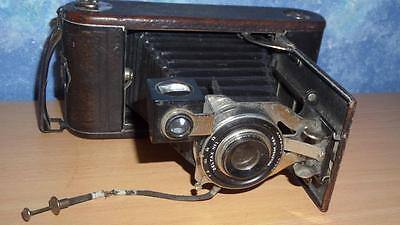 Antique ANSCO Wollensak Deltax No 1 Folding Camera Made in USA Beaut Condt
