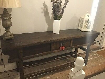 Large Antique Chinese Elm Altar Table