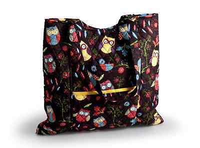 Knitting bag / Craft Storage Bag /Sewing Tote by Hobby & Gift; Rustic Ranch Owls