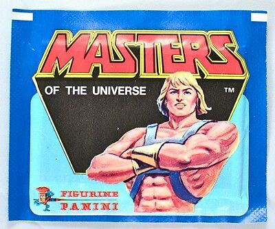 Panini HE-MAN: MASTERS OF THE UNIVERSE Sealed/Unopened Sticker Pack (1983)
