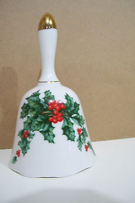 Lefton China 1995 Christmas Holly Bell  #10416