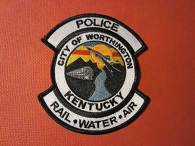 Collectible Kentucky Police Patch Worthington New