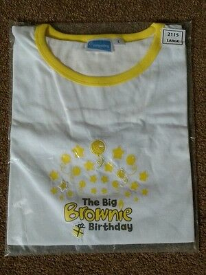 New Big Brownie Birthday T-shirt, Adult Large, Girl Guiding, Centenary. Last one