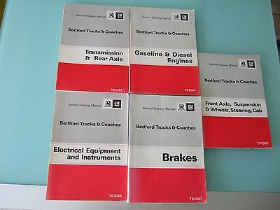 Vintage 1970's Bedford Trucks and Coaches Service Manuals x 5 Excellent