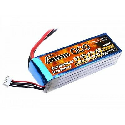 Gens Ace 3300Mah 14.8V 4S 25C With Deans  GA4S-3300-25C-S