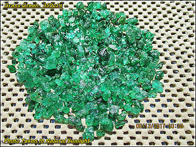 ZAMBIAN Natural EMERALD FACET ROUGH Grass Green HIGH QUALITY Parcel 350Ct's