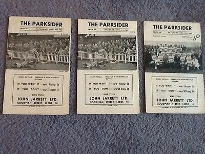 A selection of Hunslet rugby league programmes