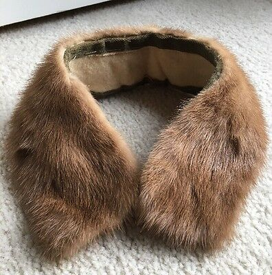 Vintage Mink Fur Collar Brown - Sew on Coat or Sweater