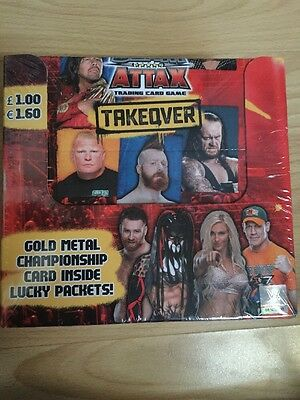 WWE Topps Slam Attax Trading Cards Takeover Full Box