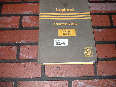 Genuine Leyland Lynx And Bison Operators Manual.truck , Tipper & Tractor Models