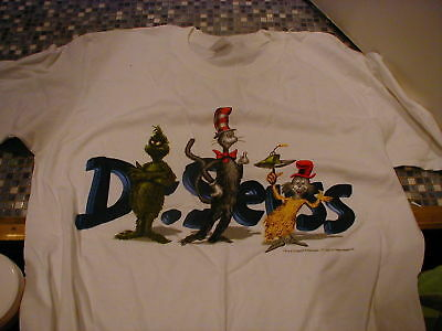 Dr Seuss Cat Grinch Sam I Am White T Shirt Large Brand New Very Rare