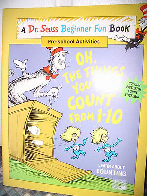 Dr Seuss Things You Can Count From 1-10 Workbook Activity Book Very Rare New